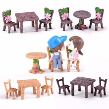 Chair Table Set Doll Lover Home Ornament Craft Fairy Garden