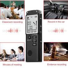 Модный 16 ГБ Цифровые диктофоны WAV голосовой Управление электронный Запись светодиодный Ручка Дисплей часы декоративные для Офис