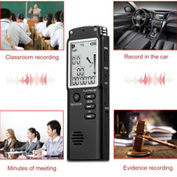 Fashionable 16GB Digital Voice Recorders WAV Voice Control Electronic Recording LED Pen Display Clock Decorative for Home Office