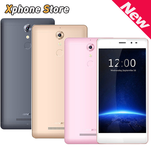 Touch ID Leagoo T1 Andriod 6.0 4G 5.0 Inch 2GB RAM 16GB ROM Smartphone MTK6737 Quad Core 1.3GHz 13MP Camera Cellphone