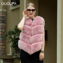 DUOUPA real fur coat for women luxury fox long part mainly suitable new vest  throughout the Fox free shipping