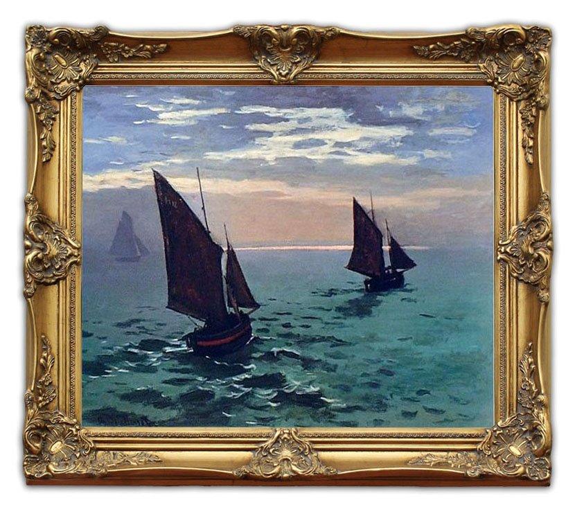 6411 Wooden Oil Painting Frames Boats Leaving the Harbor Monet ...
