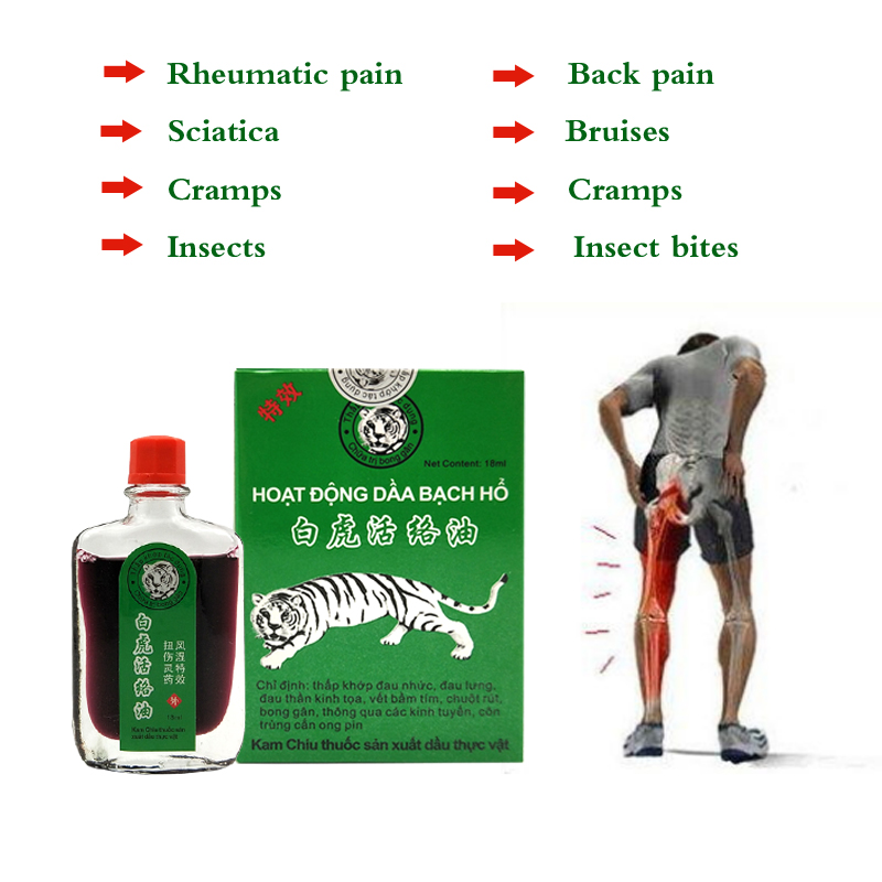 New White Tiger Balm Oil Rheumatic Pain Leg Pain Frozen Shoulder Osteoarthritis Bone Spurs Cervical Spondylosis Pain Relief