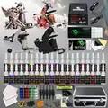 Kit de tatuaje completo para principiantes, 4 pistolas, 40 tintas de color, fuente de alimentación, agujas, punta de agarre, Set en caja D120GD 14