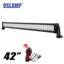 "Oslamp 42 ""240 w LED Light Bar Inundación Del Punto Combo Haz Cree Chips LED Bar Offroad 12 V 4×4 4WD ATV Camión Tractor Remolque Camper Van"