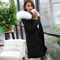 New 2016 Winter Jacket Women Duck Down Parkas Army Green Large Real Raccoon Fur Collar Hooded Coat Woman Outwear Top Quality