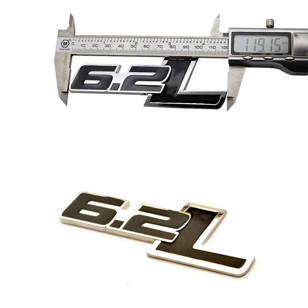New 2pcs 6 2l Side Rear Emblem For Chevy Camaro Ss Trunk Fender Badge Sticker