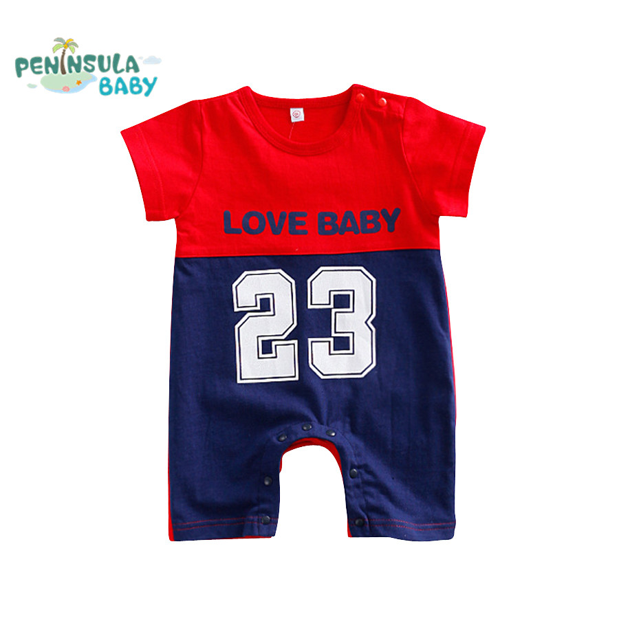 Newborn Baby Clothing Casual Sport Baby Rompers Boy Girl Short Sleeve Jumpsuit Summer Infant Toddler Clothes Costume cotton baby rompers infant toddler jumpsuit lace collar short sleeve baby girl clothing newborn bebe overall clothes h3