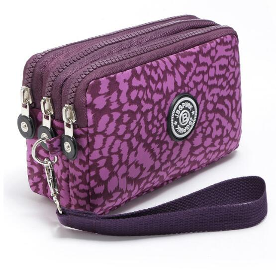 New 2018 Brand Nylon Purse Double Layer Pocket With Zipper Coin Holder Wallet Bracelet Clutch Slim Purse For Girl Dollar Price survival nylon bracelet brown