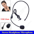 Headset Microphone Free shipping!  3.5mm Stereo Headset Headband Headphone Wired Mini Microphone USB 3.5mm for Teacher Speaker