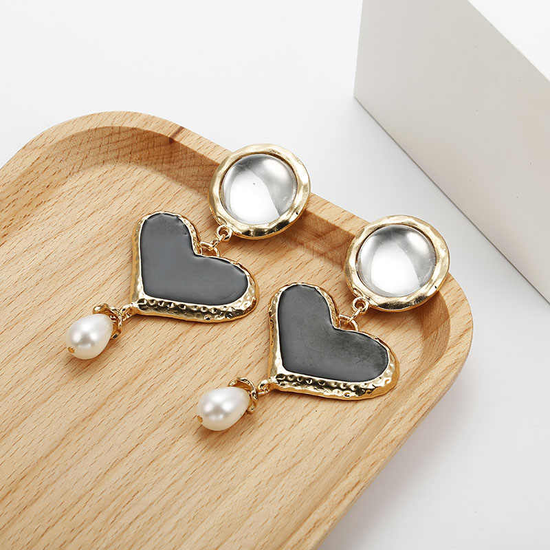 Fashion Earrings Women 2019 Metal Dangle Earrings For Women Charm Gold Color Big Earrings Female Fashion Jewelry