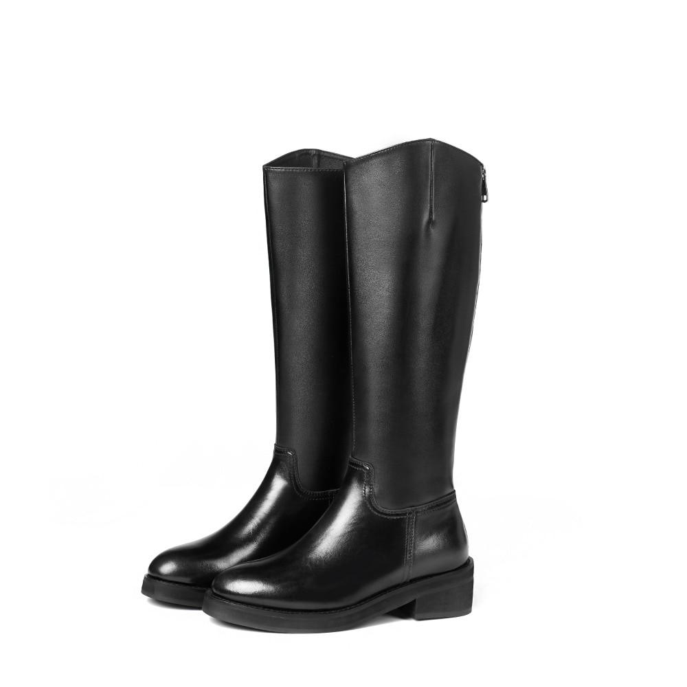 Arden Automne Black Talons Zipper Chaussures Furtado Hiver Bout 4 Cm Genou Noir Bottes Carrés Véritable Nouveau Femmes Rond 2018 Cuir rErqBRw