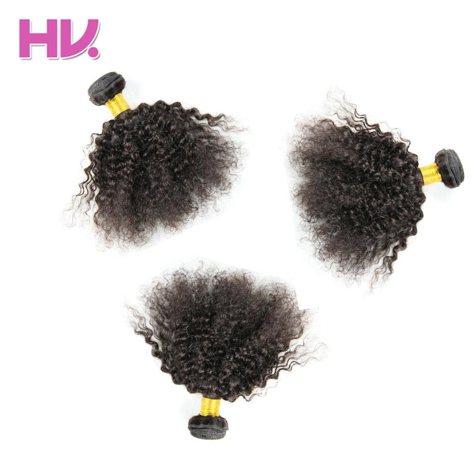 Волос вилла предварительно Цветной перуанский странный вьющиеся # 1b/натуральный Цвет 100% Человеческие волосы Weave Связки не Волосы Remy 3 связки...