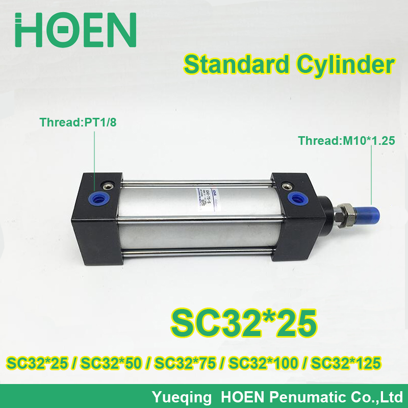 SC32*25 SC series 32 mm bore standard single rod air pneumatic cylinder SC32*50 SC32*75 SC*100 SC32*125 SC32*150 SC32*175 шапка для девочки marhatter цвет сиреневый mdh7223 размер 40 42