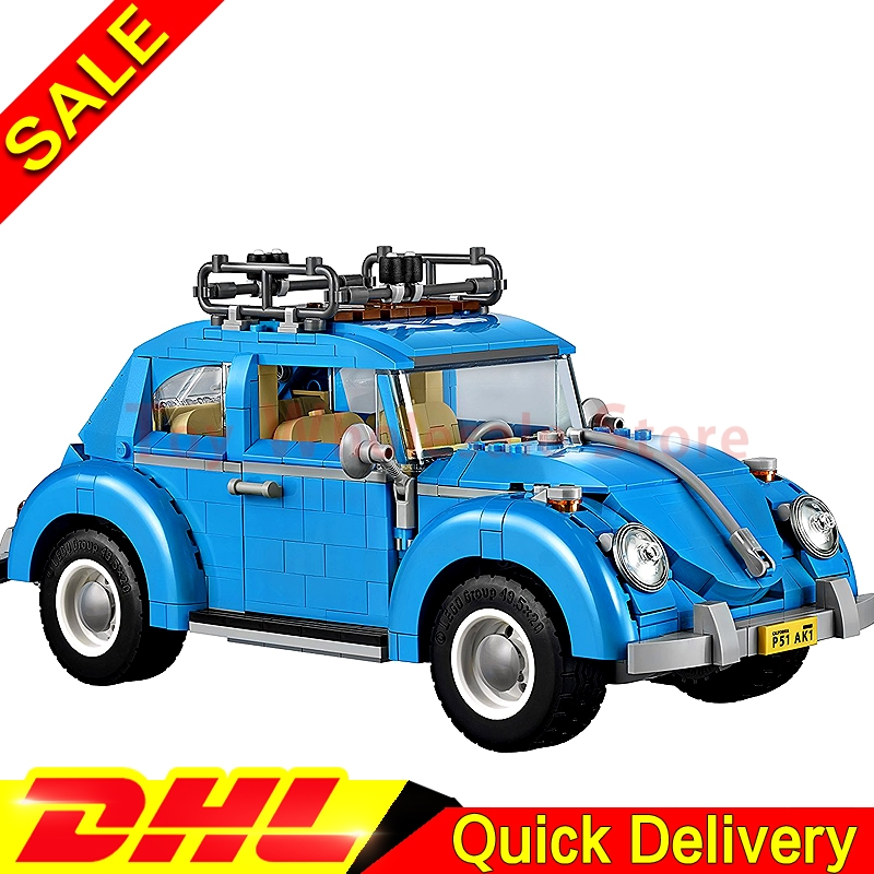 LEPIN 21003 Series City Car Beetle model Building Blocks Blue Technic children lepins toys gift Clone 10252 showcase presents blue beetle volume 1