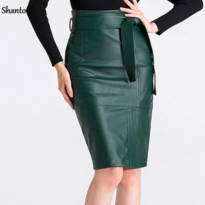 Короткие кож юбки
