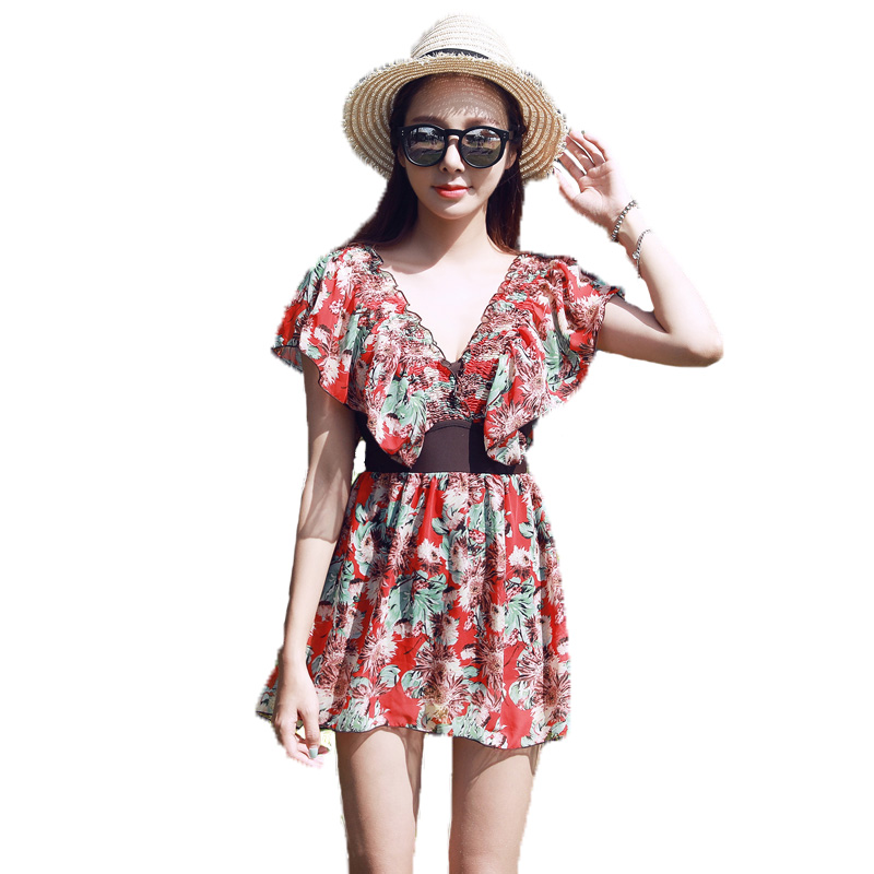 Hot New Top Quality Retro Floral Summer Beach Push Up Deep-V Sexy Women One Pieces Swimwear Slender Lady Hot Swimsuit hot summer beach high quality sexy women backless one pieces swimwear slender lady mix colors swimsuit pool bathing suit
