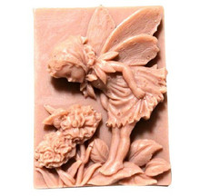 Silicone soap mold handmade food mold flower fairies and bees shape DIY soaps mould fairies and elves vector motifs cd