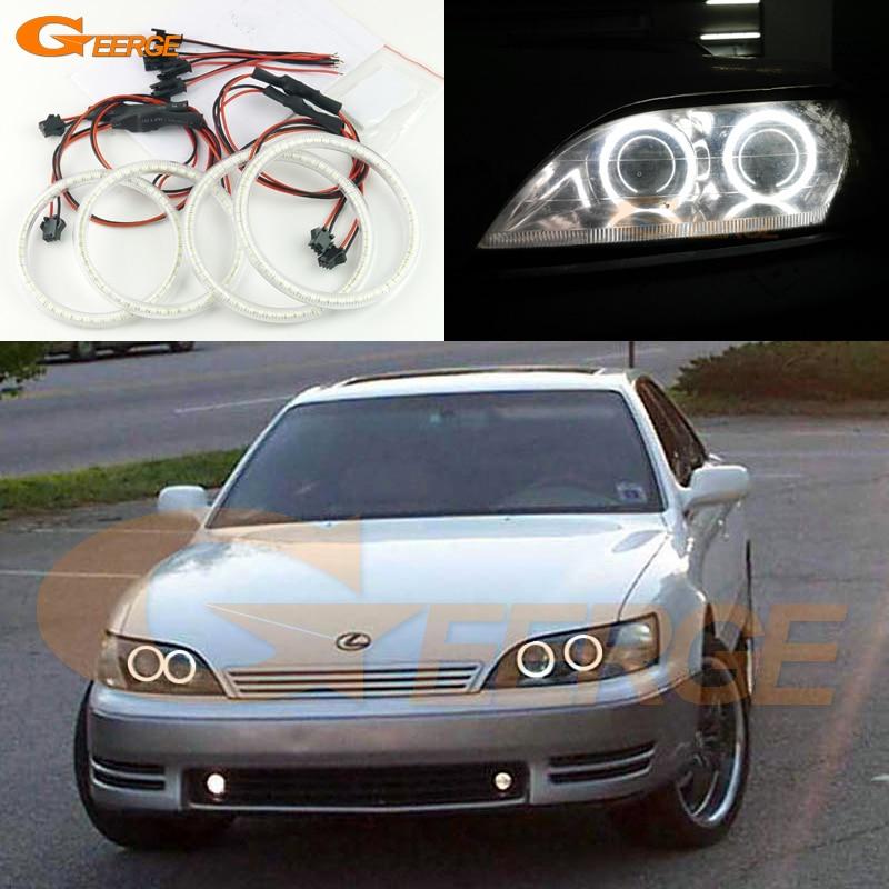 Для Lexus ES300 Тойота windom 1992 1993 1994 1995 1996 отлично Ультра-яркий освещения SMD из светодиодов глаза Ангела гало кольцо комплект