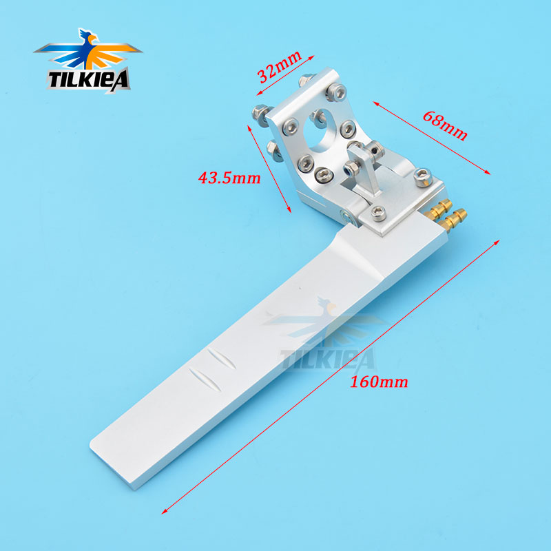 Good Quality CNC Aluminum Alloy 68 x160mm Rudder with Dual Water Pickup For Rc Boat