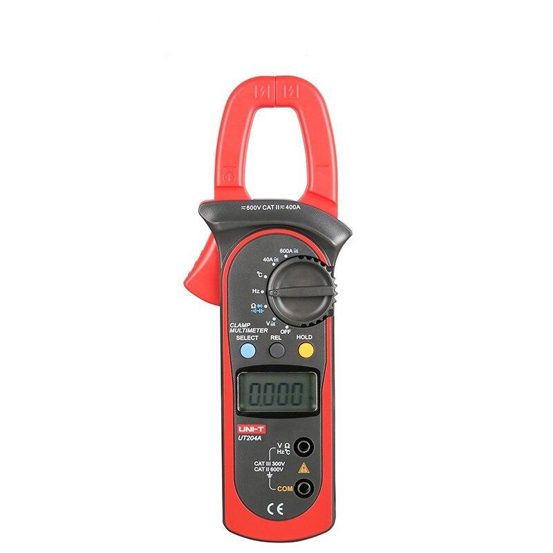 UNI-T UT204A pince mètre ac dc courant pince compteur V/F/C mesure pince multimètre LCD numérique pince mètre ut204a ut-204a