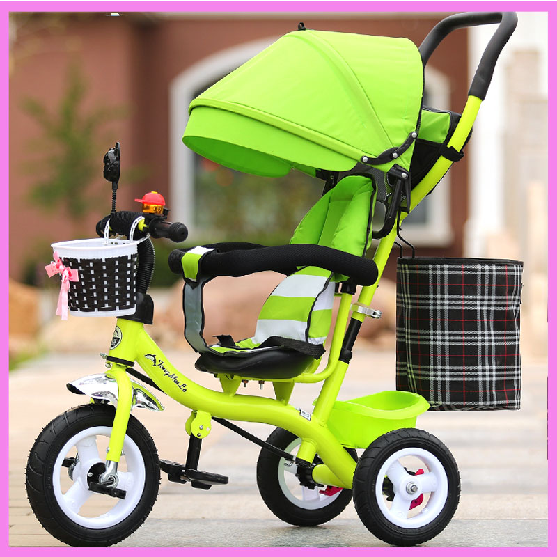Portable Toddler Child Tricycle Stroller Tricycle Bicycle Umbrella Car Pushchair Buggy Baby Tircycle 3 Wheels Recumbent Trike child drift trike 4 wheels walker kids ride on toys for 1 3 years tricycle outdoor driver