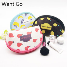 Want Go Floral Print Women Make up Bag Cosmetic Cases Portable Travel Toiletry Large Capacity Storage Zipper Wash Pouch