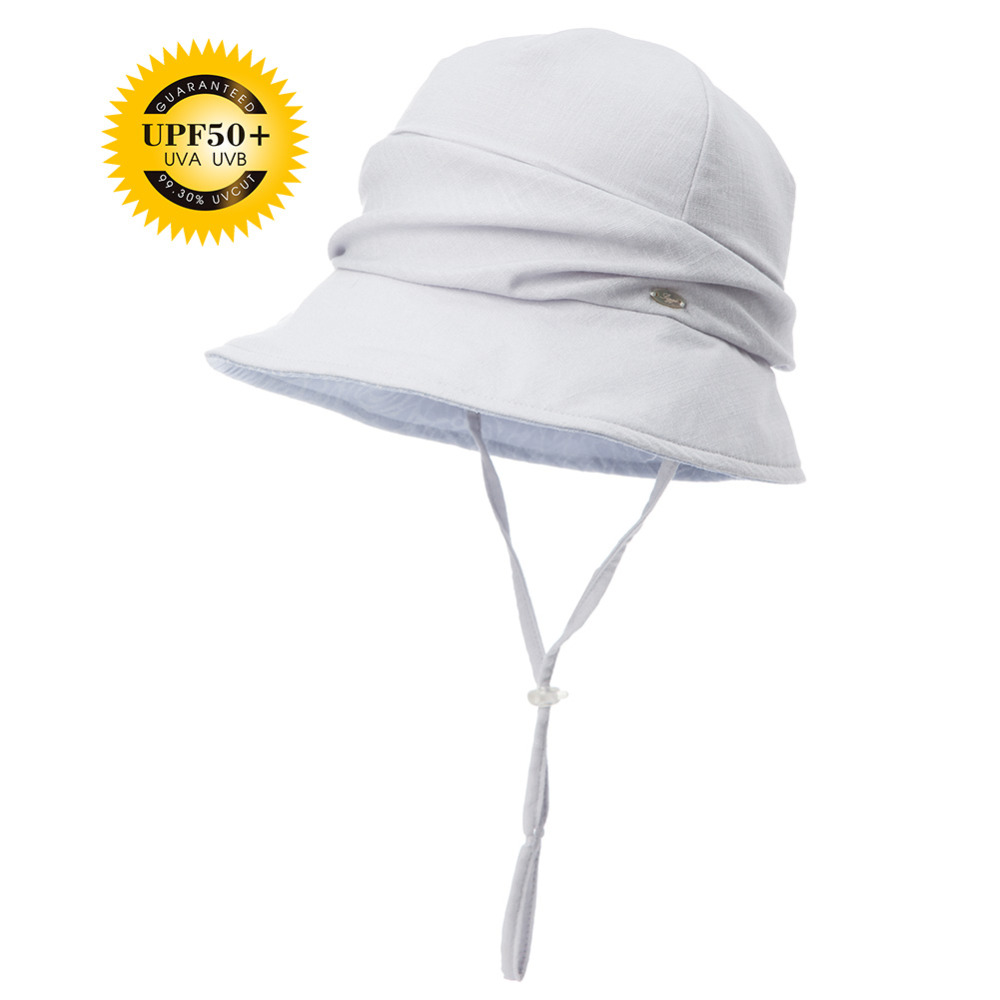 FANCET Summer Sun Hat For Women UV Bucket Chapeau Feminino Praia Caps Femme  For Girls Brim Sun Hats Fashion Chin Cord 89309-in Sun Hats from Apparel ... 09929ae3508
