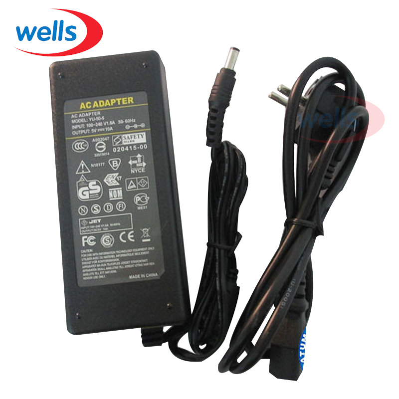 5V 10A LED Power Supply For WS2812B WS2811 LPD8806 WS2801 LED Strip Light Switching Adapter AC to DC 50W Lighting Transformers