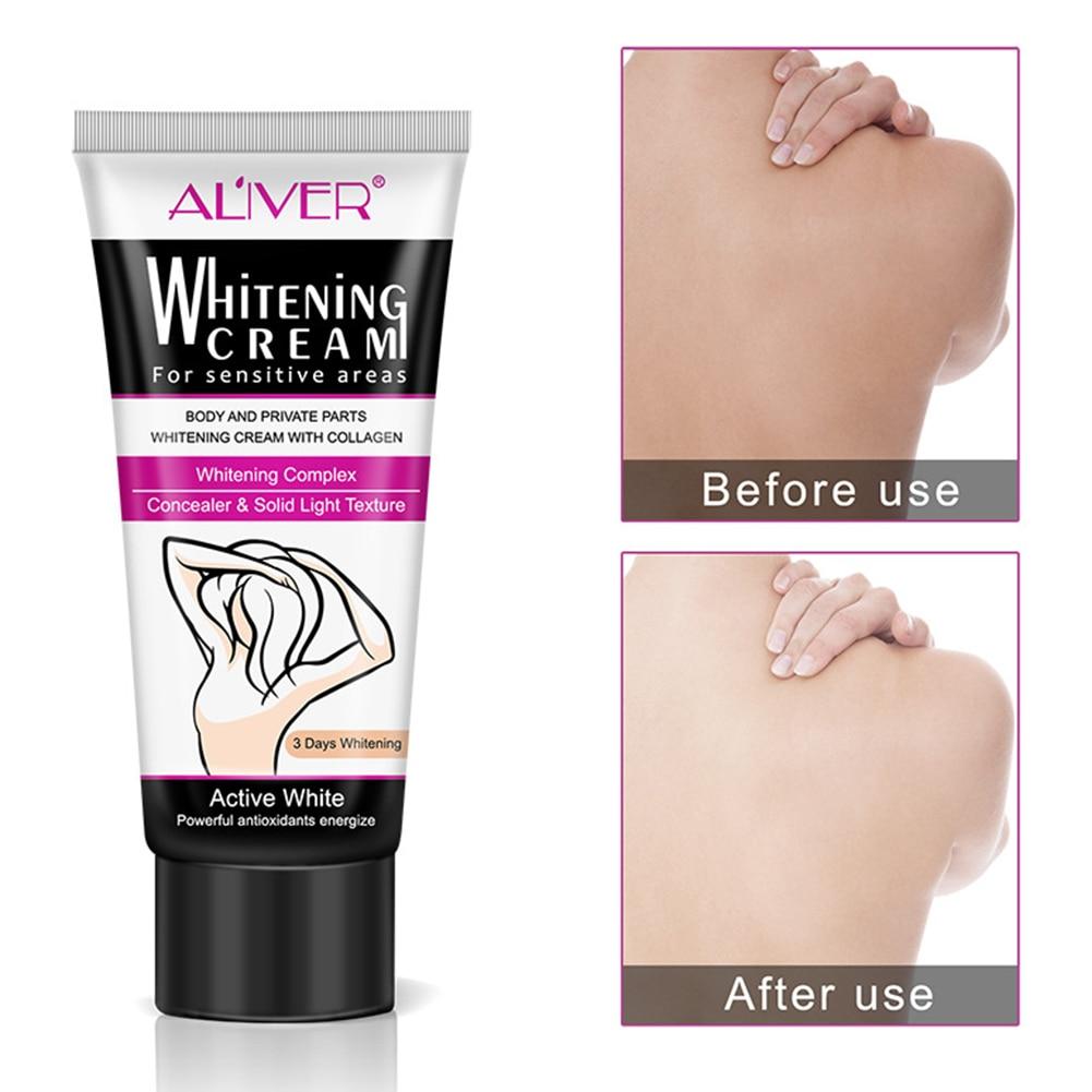 60ml Value-added Underarm Private Parts Body Whitening Beauty Cream Women Lighten Dark Moisturizing Underarm Whitening Cream