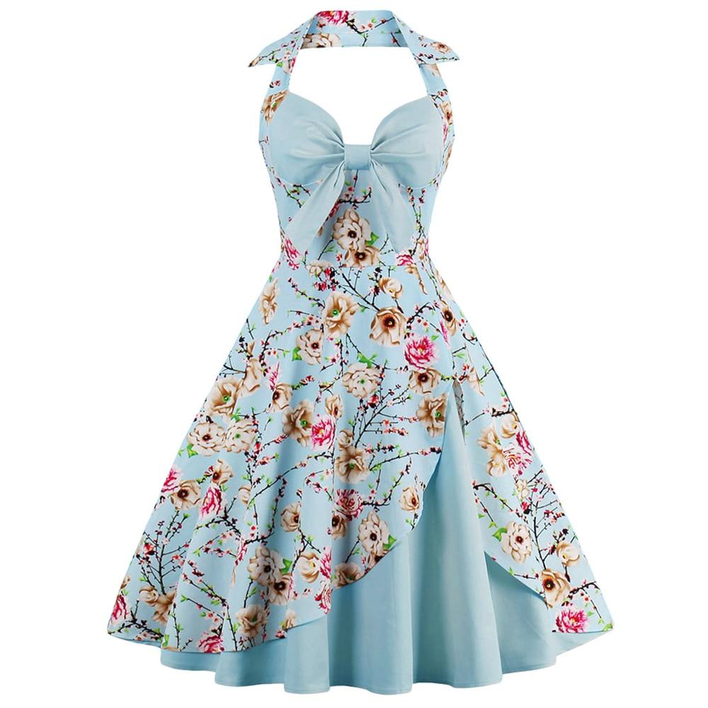 Wipalo Polka Dot Print Vintage Dress Women Cotton Rockabilly ...