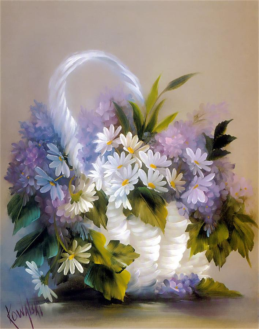 Picugina Natalja Flowers Fantasy Art Deco Acrylic Painting