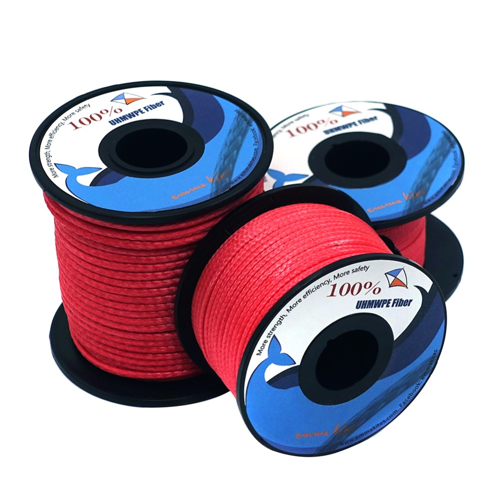 220lb - 1000lb Braided Kite Line For Large Power Kite Strong Abrasion Resistant Fishing Assist Cord Outdoor Camping