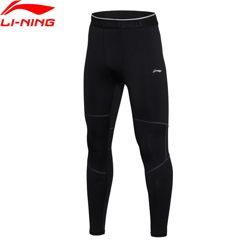 Li-Ning Men Training Tights WARM AT Polyester Spandex Tight Fit Comfort LiNing Sports Pants AULM077 MKY341 li ning women training sweat pants loose fit polyester spandex comfort lining sports pants akln016 wky155