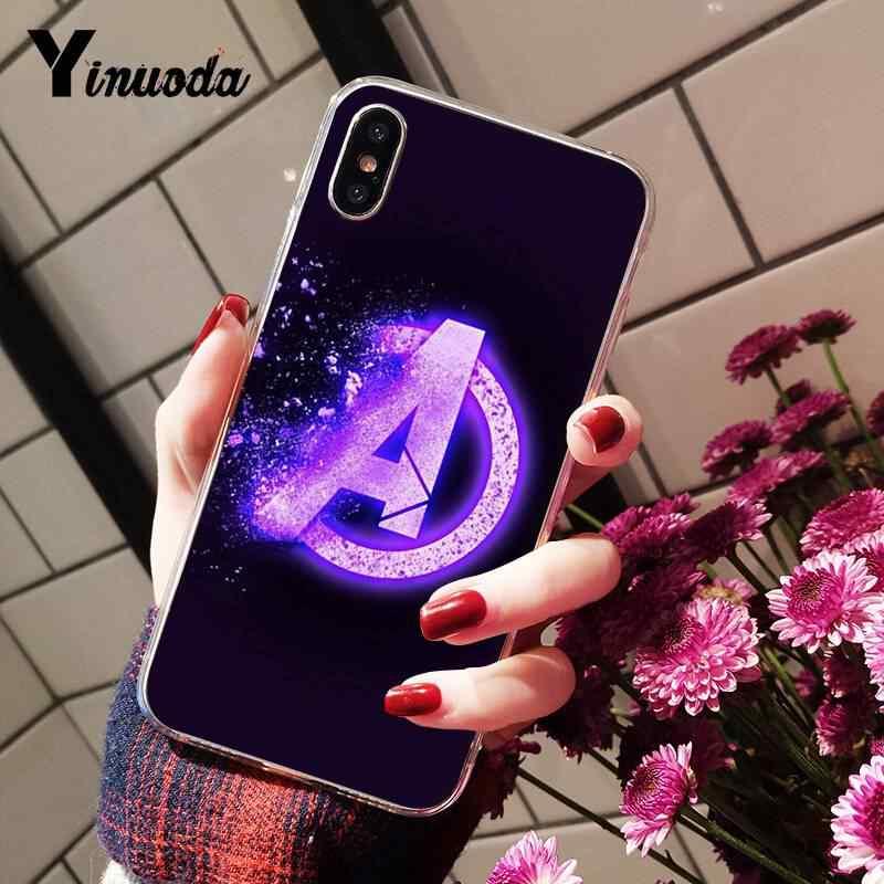 Yinuoda Vô Cực Đính Đá Avengers Marvel Thoáng Mát Mới Ốp Lưng Điện Thoại Cho iPhone 8 7 6 6S 6S Plus X XS Max 5 5S SE XR 10 11 11pro 11 Promax