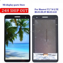 For Huawei MediaPad T2 t2 7.0 LTE BGO-DL09 BGO-L03 BGO-L03A LCD Display and with Touch Screen Digitizer Assembly replacement new lcd display touch screen assembly for huawei mediapad t2 7 0 lte bgo dl09 black 7 inch