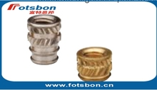 IUB-M2.5-2 Tapered Thru-threaded insert ,Brass,nature,PEM standard ,Made in China, in stock,knurled nuts,used in plastic
