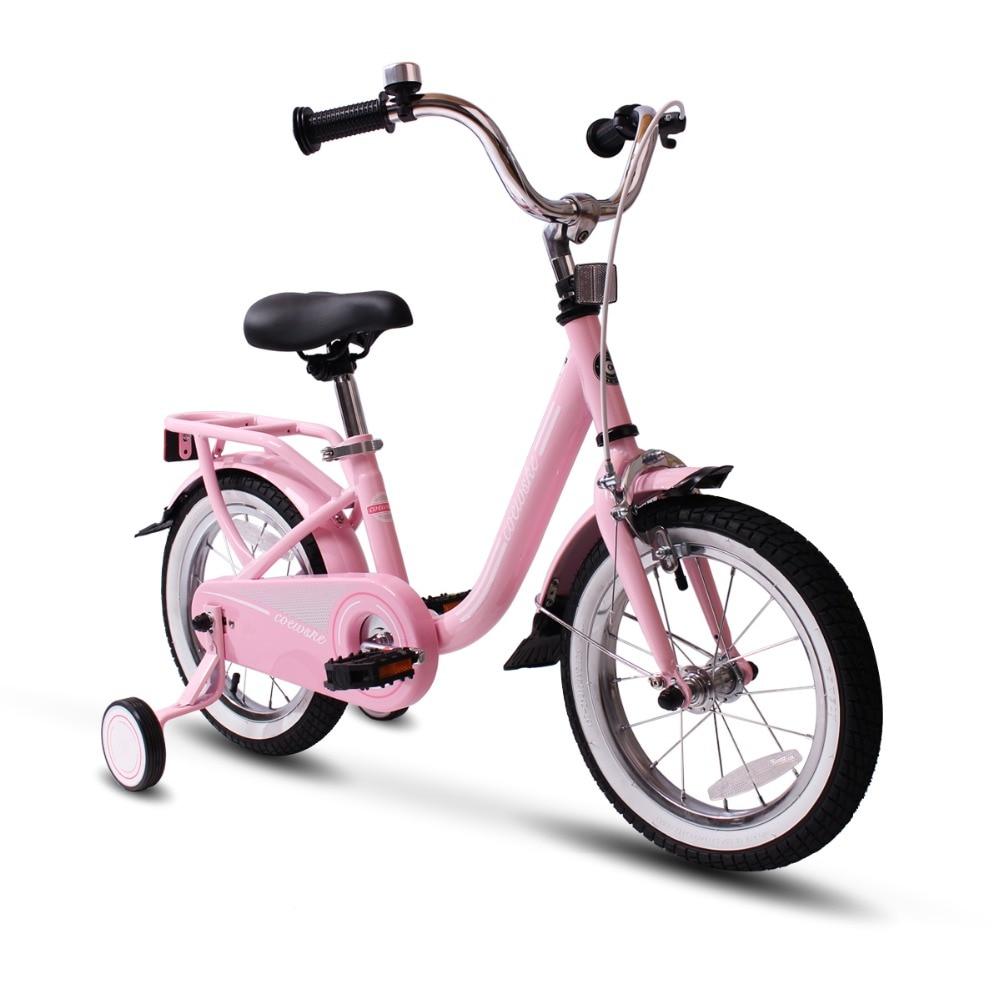 Vélo enfant en acier cadre enfants vélo 14-16 pouces avec roue d'entraînement