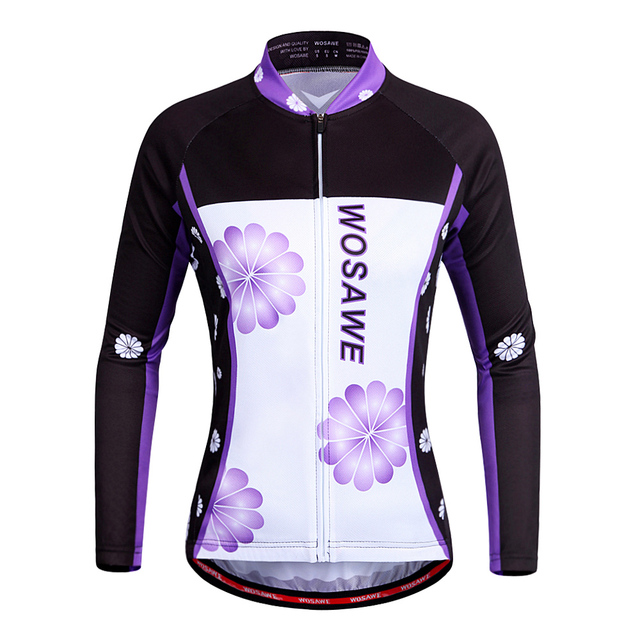 723642e8a WOSAWE Women Cycling Jersey Breathable Lightweight wick moisture Long  Sleeve Bicycle Jersey Shirt MTB Bike Apparel Sportswear