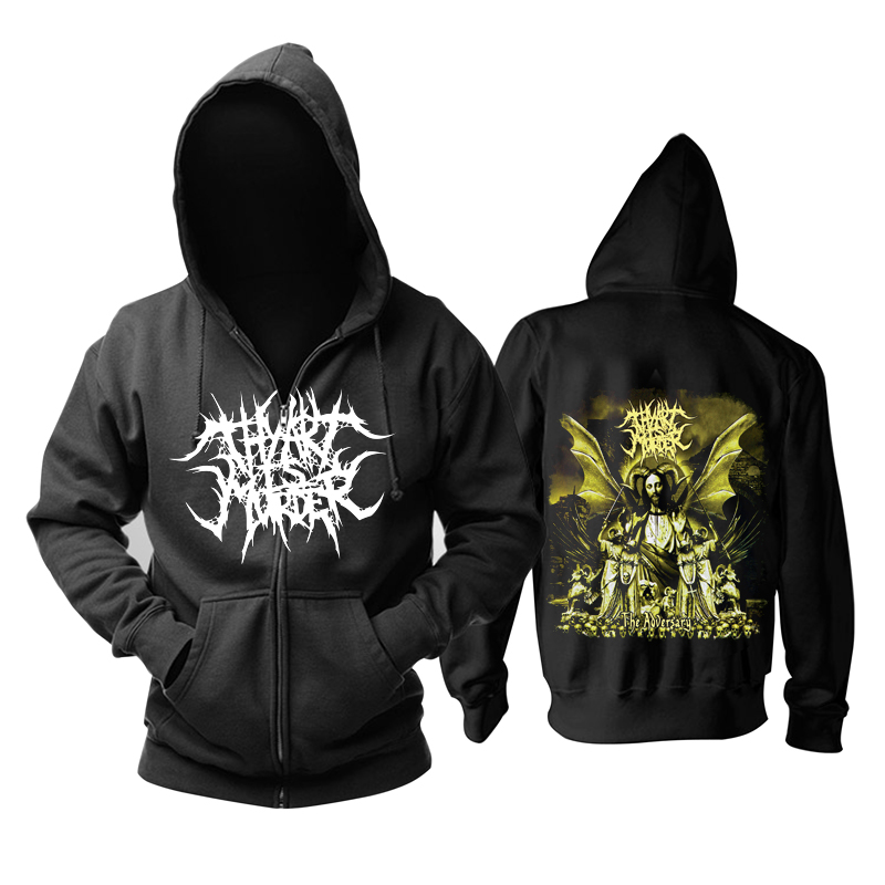Bloodhoof Thy Art Is Murder Hard Metal Deathcore Technical The Adversary Long Sleeve Zipper Hoodie Asian Size