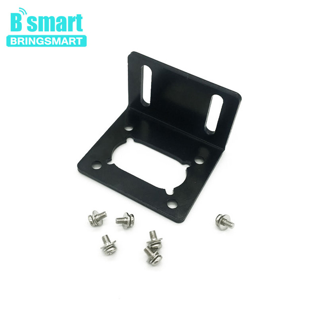 Bringsmart Mounting Bracket of Worm Gear Motor Support for JGY-370 A58SW31ZY Fixed Motor Running Smoothly Mini Bracket