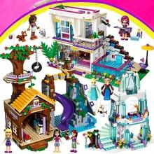 Girls Friends Building Blocks Fairy Elves Dragon Princess Castle Livi house City Hospital Toys Set Compatible