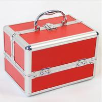24cm*17cm*18cm Fashion 3 Layers Beauty Case For Cosmetics,Make Up Organizer,Jewelry Storage Box 5 Colors,estuches cosmeticos