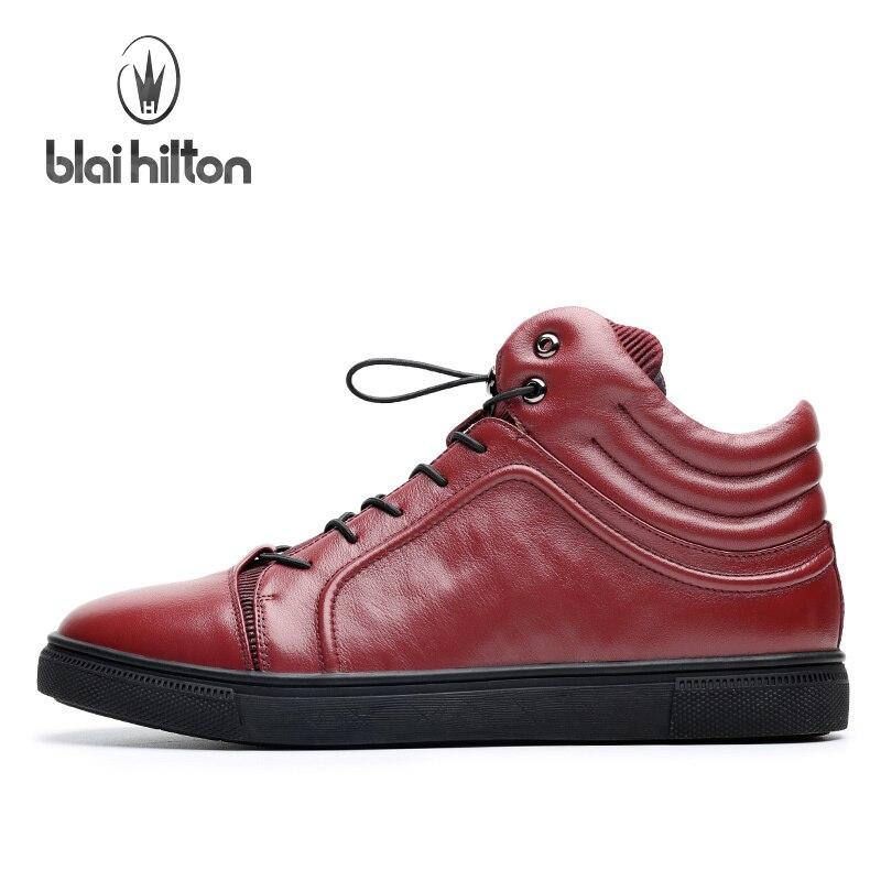 Blai Mode 1 color Hommes De 2 En Sport Cuir Hilton confortable Color 2017 Respirant Véritable Noir Chaussures Rouge ZEqErp