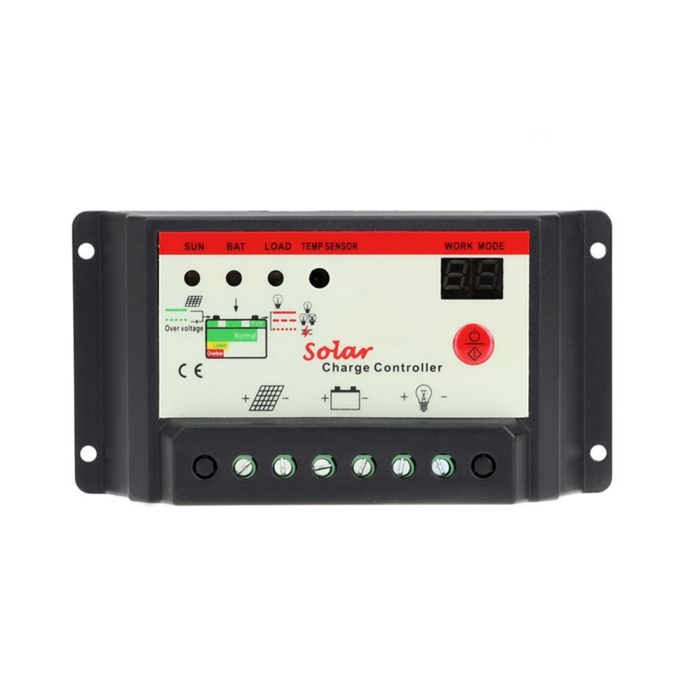 Solladdare LCD Tensione 10A 20A 30A 12 V / 24 V PWM Regolatore Solare - Reservdelar och tillbehör för mobiltelefoner - Foto 2
