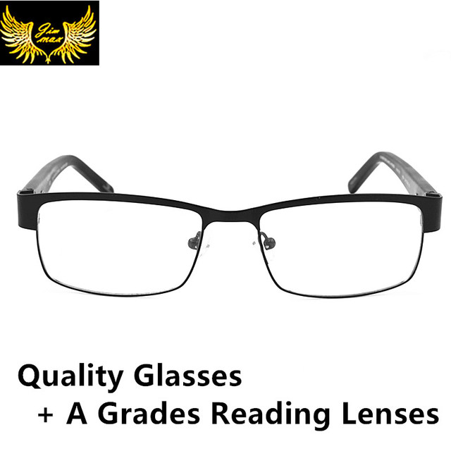 2016 Новый Дизайн Стиль Мужчины Качество CR39 Линзы Весна Очки Для Чтения Моды Квадратных Полный Обод Классический Пресбиопии Очки для Мужчин