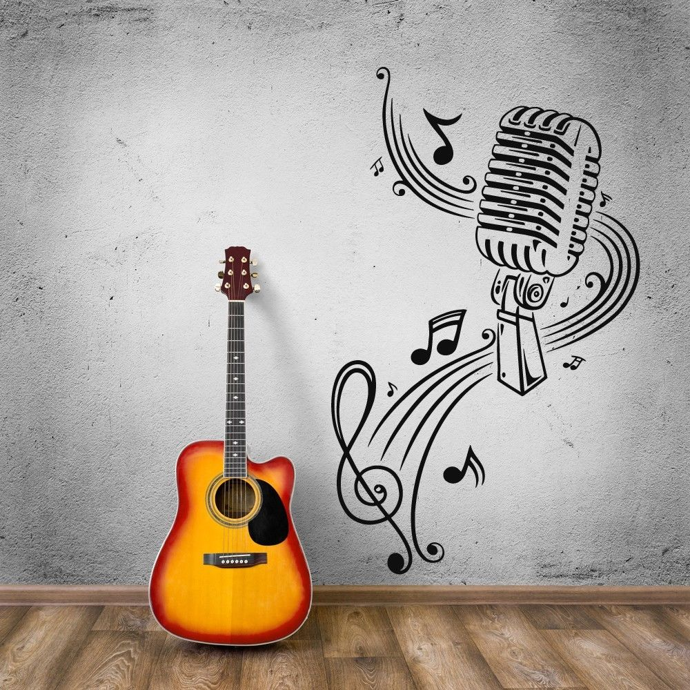 желании красивые картинки ноты и гитара модельер