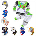Children Cotton Long Sleeve Iron Man spider-man Pajamas Baby Girl Boys Sleepwear Kids Buzz Lightyear clothes long sleeve set