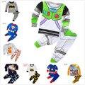 Los niños de Algodón de Manga Larga Iron Man spider-man Pijamas Del Bebé Niños de Dormir Kids Buzz Lightyear ropa de manga larga conjunto