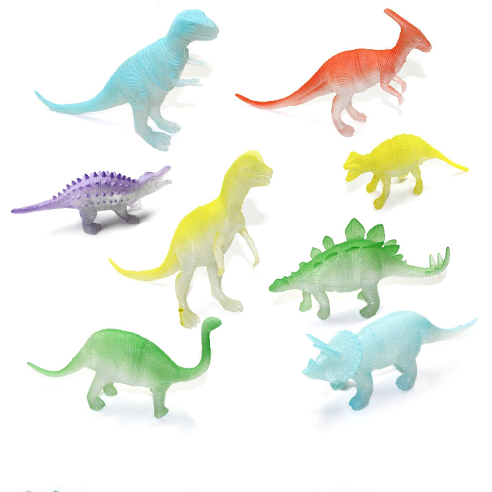 8 Pcs/set Night Light Noctilucent Dinosaur Figure Gift Toy Model For Children Kids Toys  ...